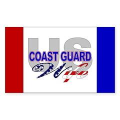 US Coast Guard Wife Rectangle Decal
