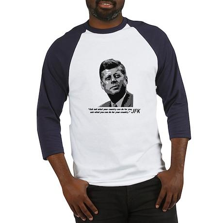 JFK...Ask not... Baseball Jersey