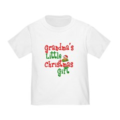 Grandma's Little Christmas Gift Toddler Tee