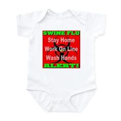 Swine Flu Alert Infant Bodysuit