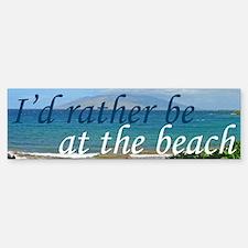 Beautiful Beach Bumper Bumper Sticker