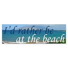 Beautiful Beach Bumper Sticker