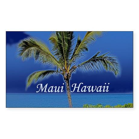 Maui Hawaii Sticker (Rectangle)