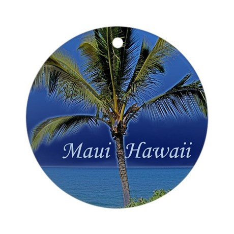 Maui Hawaii Ornament (Round)