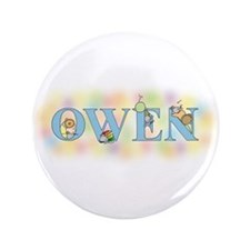 """Owen"" with Mice 3.5"" Button"