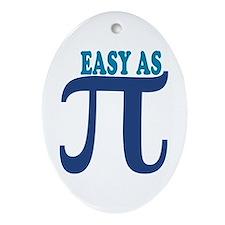 Easy as Pi Oval Ornament