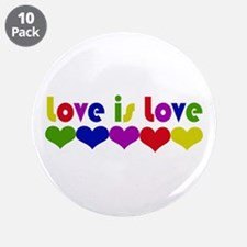 """Love is Love 3.5"""" Button (10 pack)"""