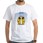 Rainy Day Penguin White T-Shirt