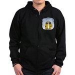 Rainy Day Penguin Zip Hoodie (dark)