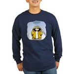 Rainy Day Penguin Long Sleeve Dark T-Shirt