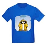 Rainy Day Penguin Kids Dark T-Shirt