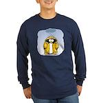 Rainy Day Penguin Long Sleeve Dark T-Shirt