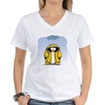 Rainy Day Penguin Women's V-Neck T-Shirt