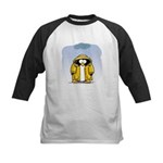Rainy Day Penguin Kids Baseball Jersey
