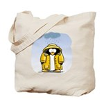 Rainy Day Penguin Tote Bag