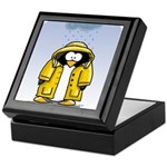 Rainy Day Penguin Keepsake Box