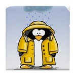 Rainy Day Penguin Tile Coaster