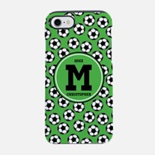 MONOGRAM Soccer Pattern iPhone 7 Tough Case