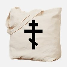 Orthodox Plain Cross Tote Bag