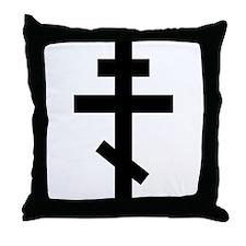 Orthodox Plain Cross Throw Pillow