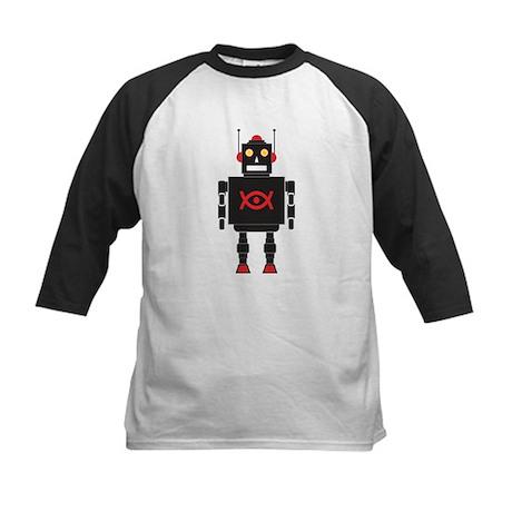 Black Robot Kids Baseball Jersey