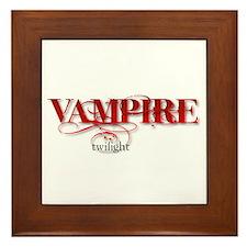 Twilight Vampire Framed Tile