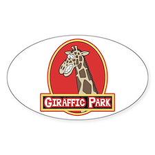 Giraffic Park Oval Decal
