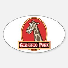 Giraffic Park Oval Decal