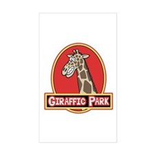 Giraffic Park Rectangle Stickers