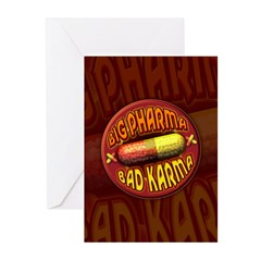 Big Pharma Bad Karma Greeting Cards (Pk of 10)