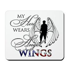 My Hero Wears Angel Wings Mousepad