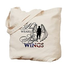 My Hero Wears Angel Wings Tote Bag