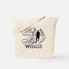 My Hero Wears Angel Wings Tote Bag
