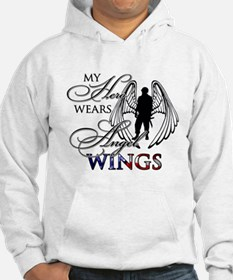 My Hero Wears Angel Wings Hoodie