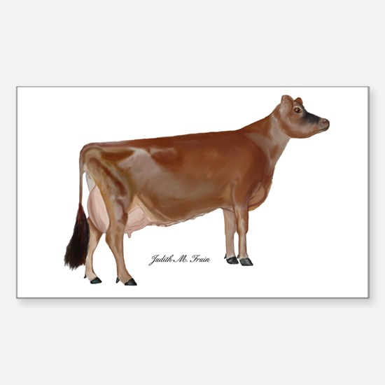 Jersey Cow Sticker (Rectangle)