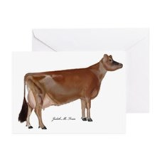 Jersey Cow Greeting Cards (Pk of 20)
