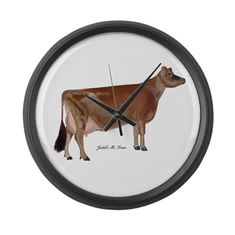 Jersey Cow Large Wall Clock
