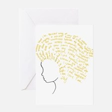 Funny Afro queen Greeting Card