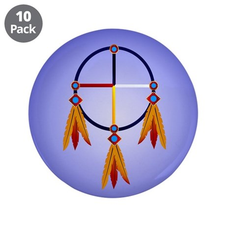 "The Medicine Wheel 3.5"" Button (10 pack)"