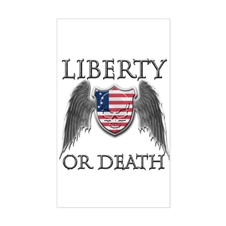 Liberty or Death Rectangle Sticker