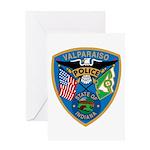 Valaparaiso Police Greeting Card