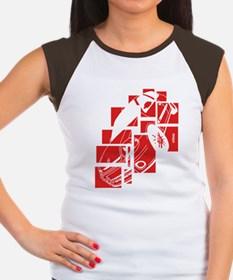 Ph1 Squares Red Women's Cap Sleeve T-Shirt