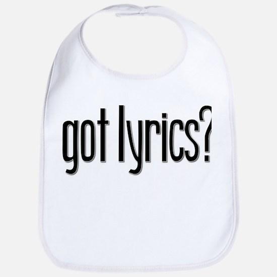 Got Lyrics? Bib