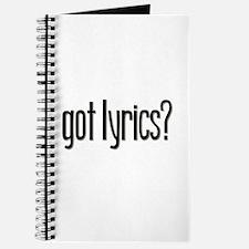 Got Lyrics? Journal