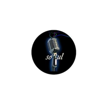 Mini Button - soul, microphone, music