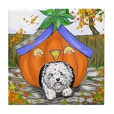 Pumpkin House Tile Coaster
