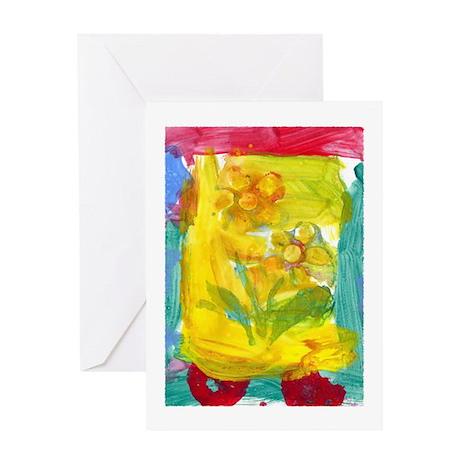 Flower Fun Greeting Card