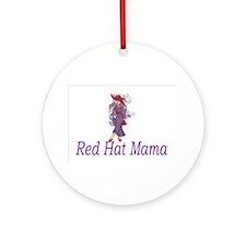 Funny Hot mama Ornament (Round)