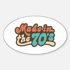 Made in the 70's Oval Decal