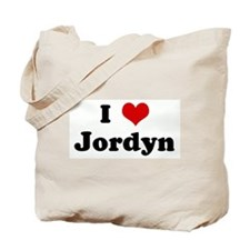 I Love Jordyn Tote Bag